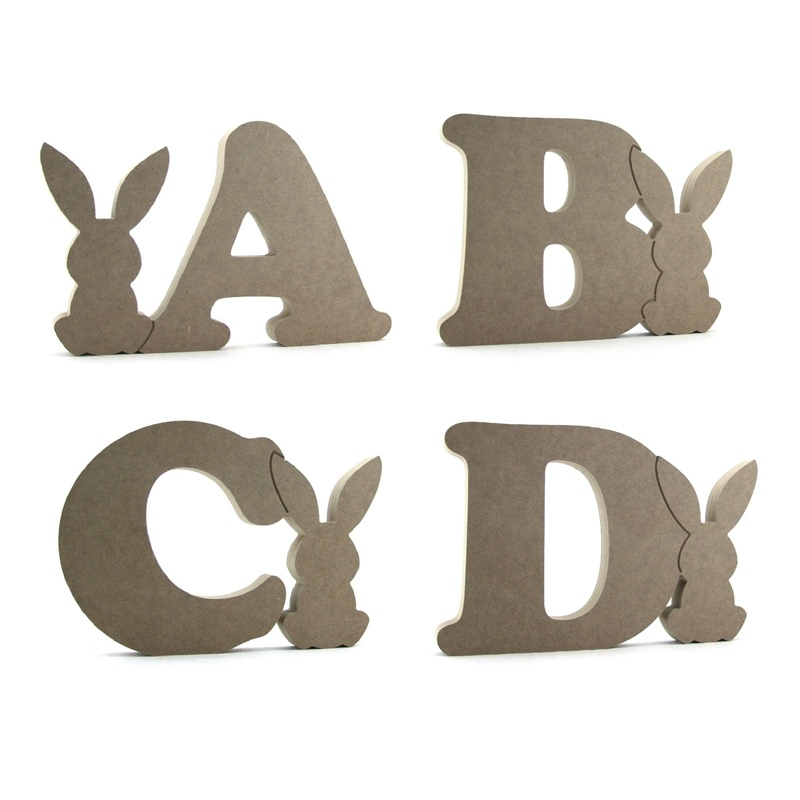 Cooper Font Letter With Joined Bunny