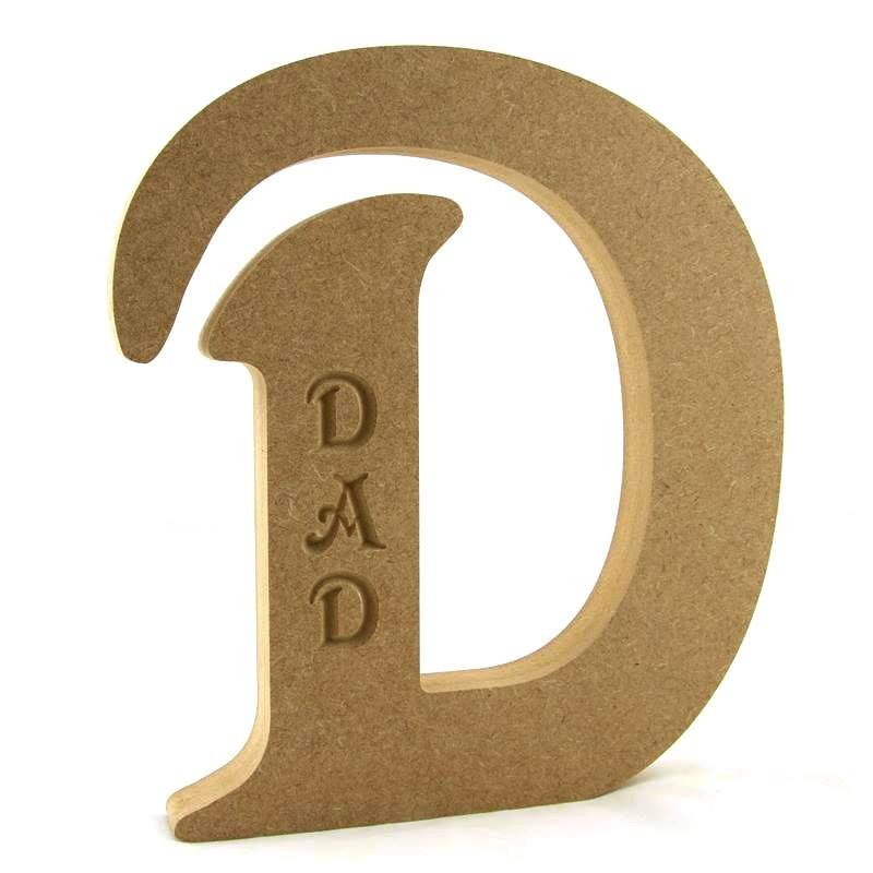 D Engraved 'DAD'