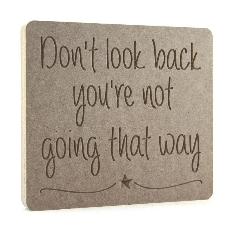 Don't look back you're not going that way - PLAQUE