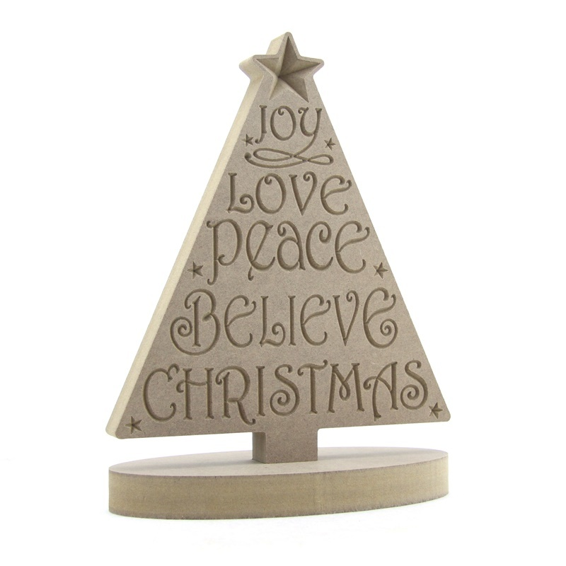 Engraved Christmas Tree