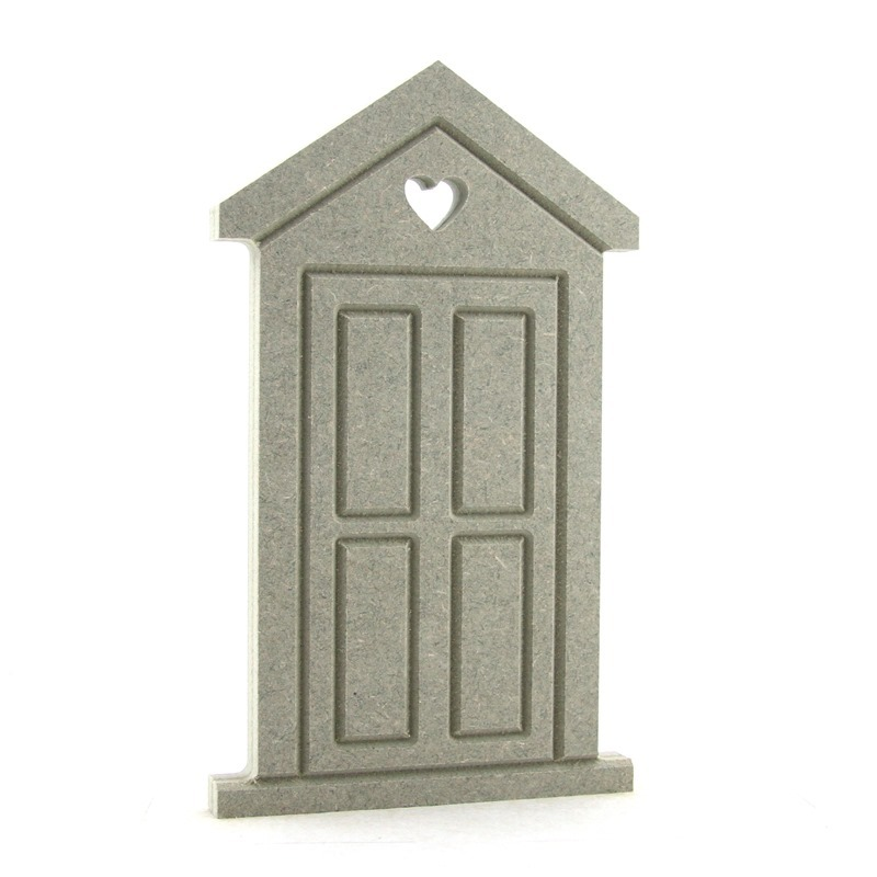 Fairy Door 'D' with heart hole in door