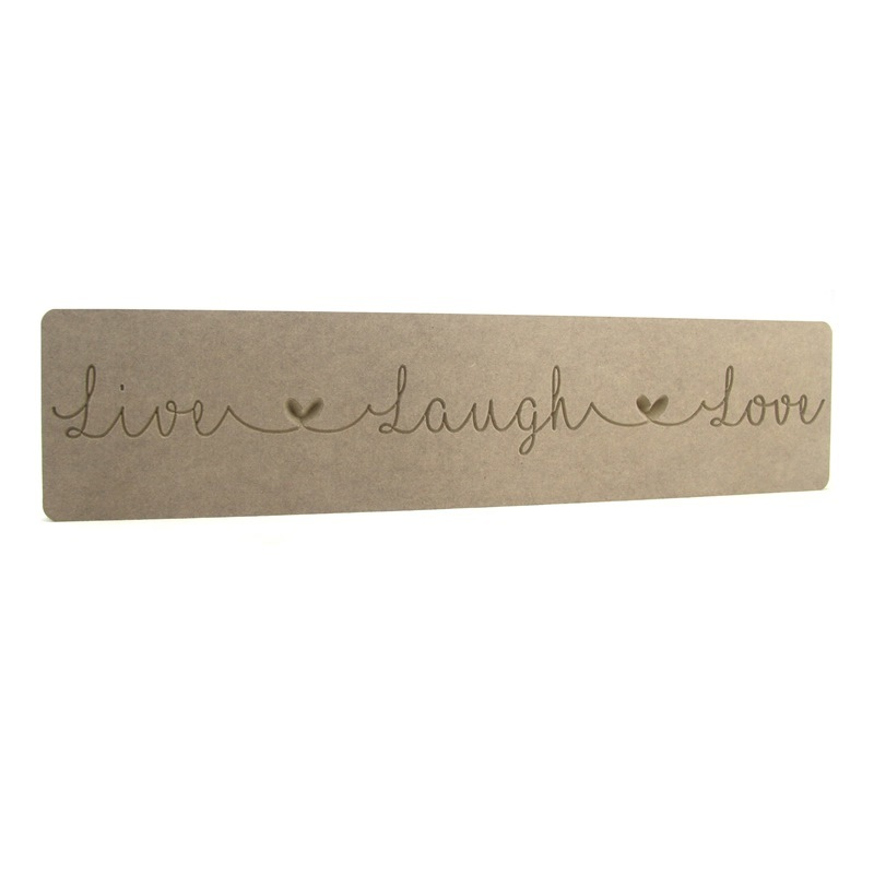 'Live Laugh Love' Engraved Word Block