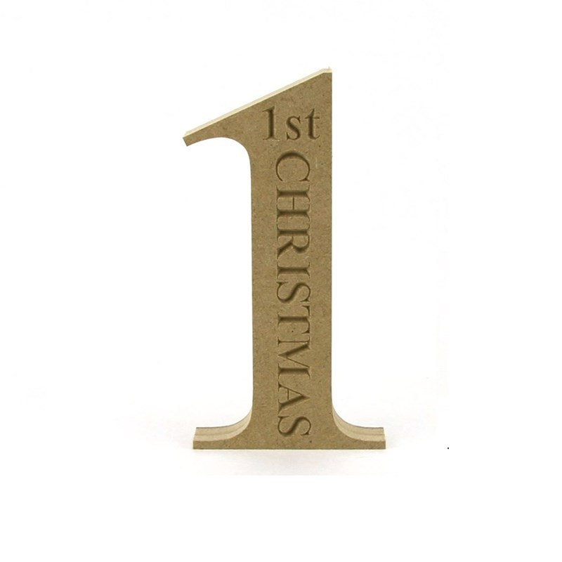 Number '1' engraved with '1st Christmas' TNR Font.