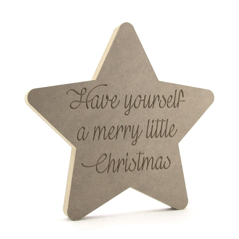 'Have yourself a merry little Christmas' Engraved Star
