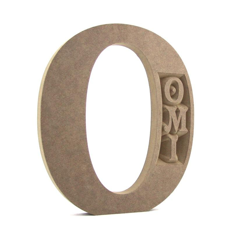 Special Engraved Letters O -  Omi