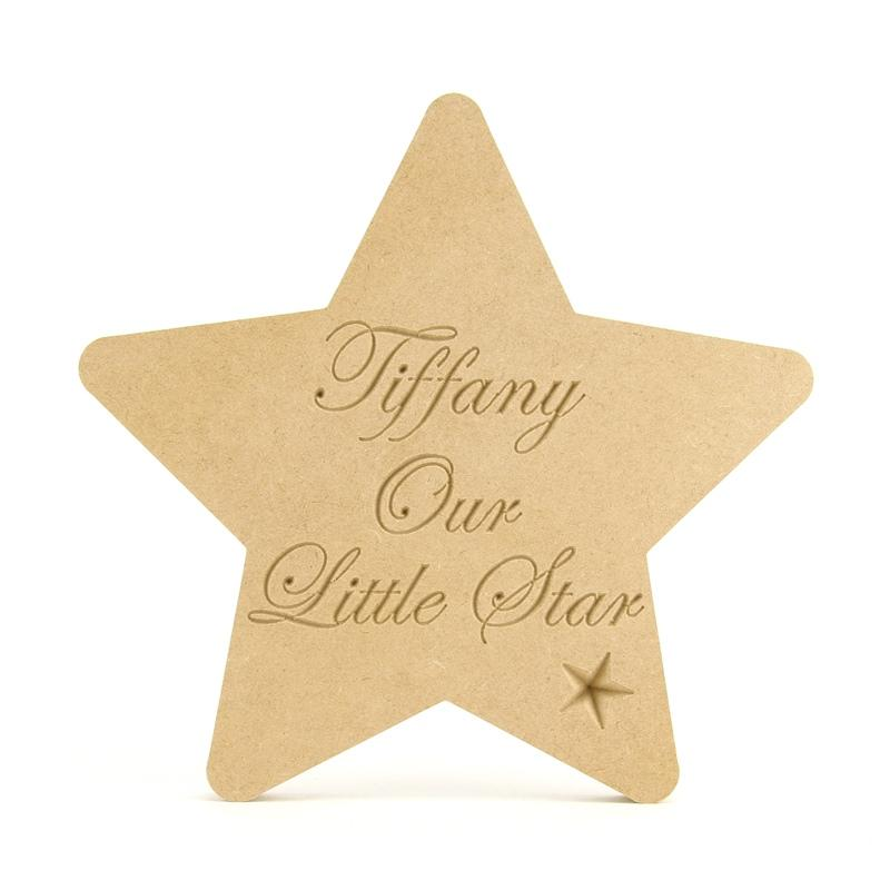 Personalised 'Our Little Star' Shape