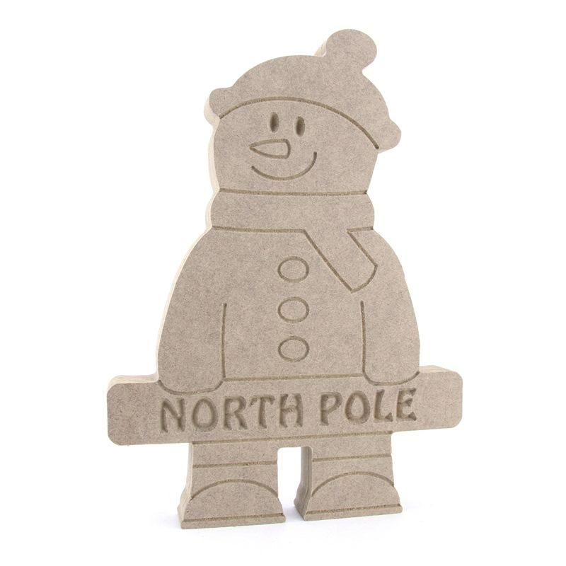 Standing Snowman  Holding a Banner (Available Personalised)