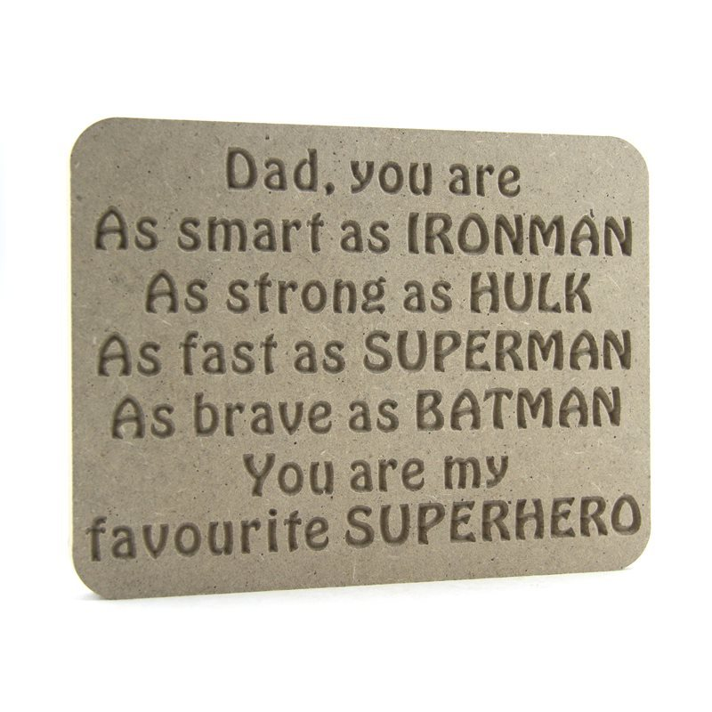 Dad Superhero Plaque