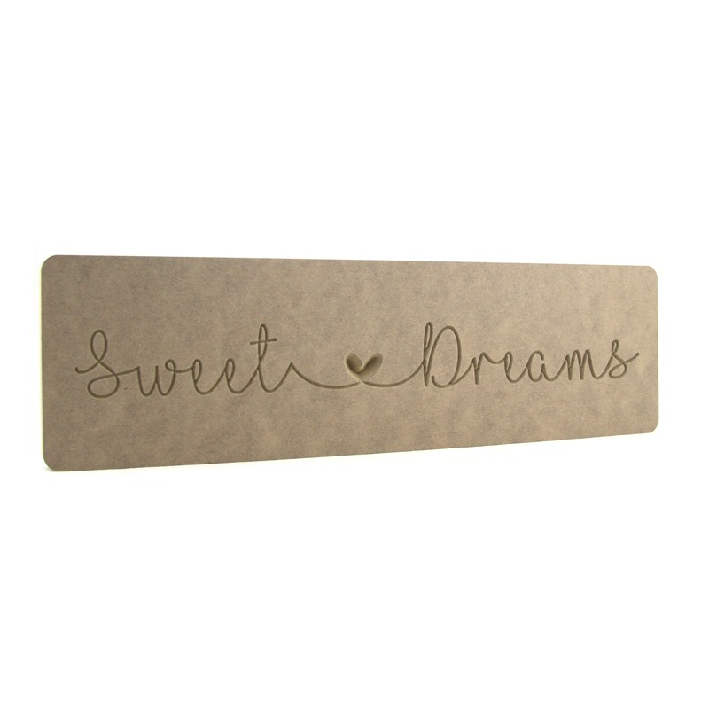'Sweet Dreams' Engraved Word Block