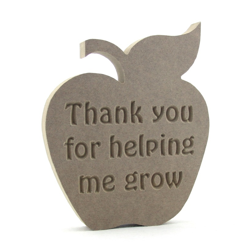 Teachers Apple - Thank you for helping me/us grow