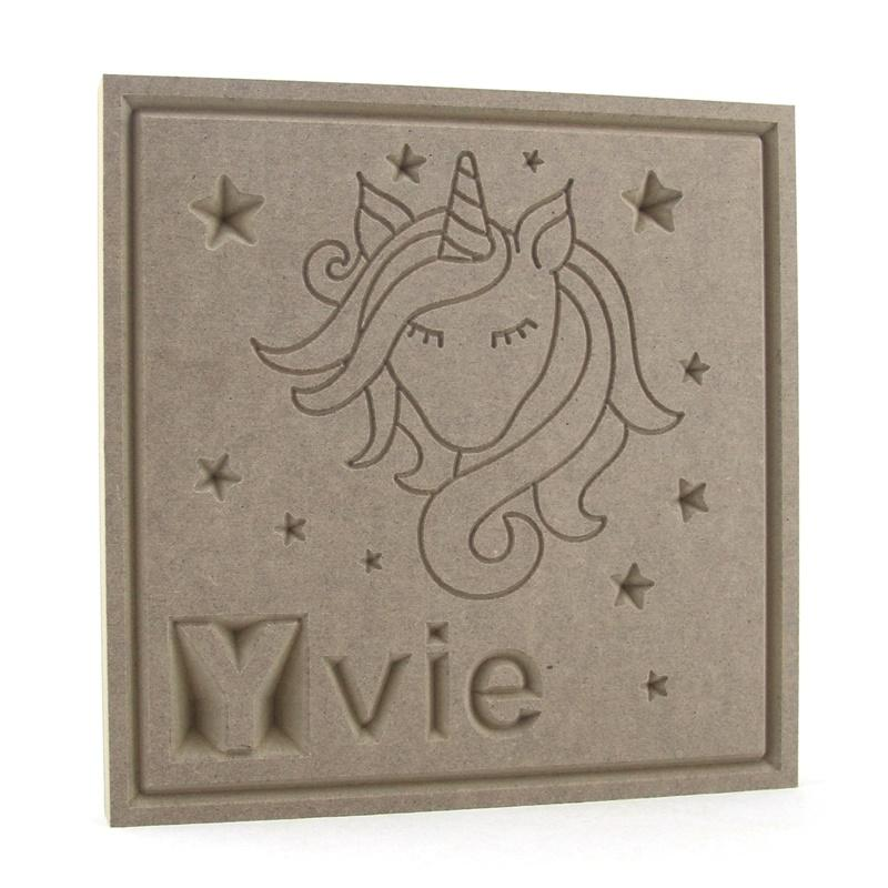Unicorn Name Plaque