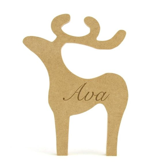 Personalised Reindeer Shape