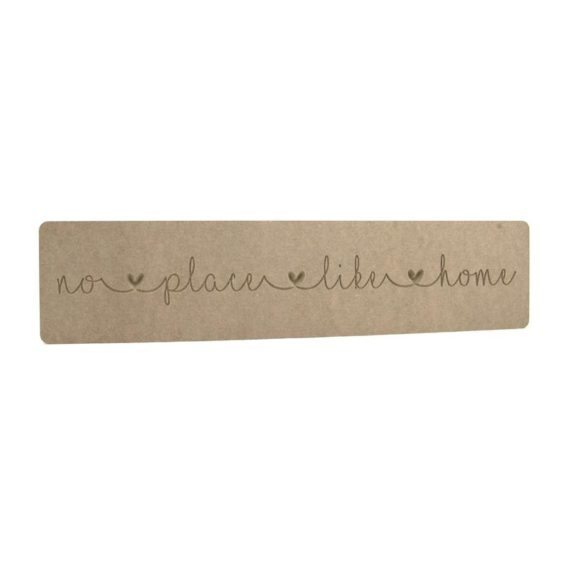 'no place like home' Engraved Word Block