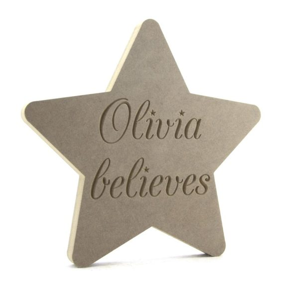 Personalised 'Believes' Christmas Star