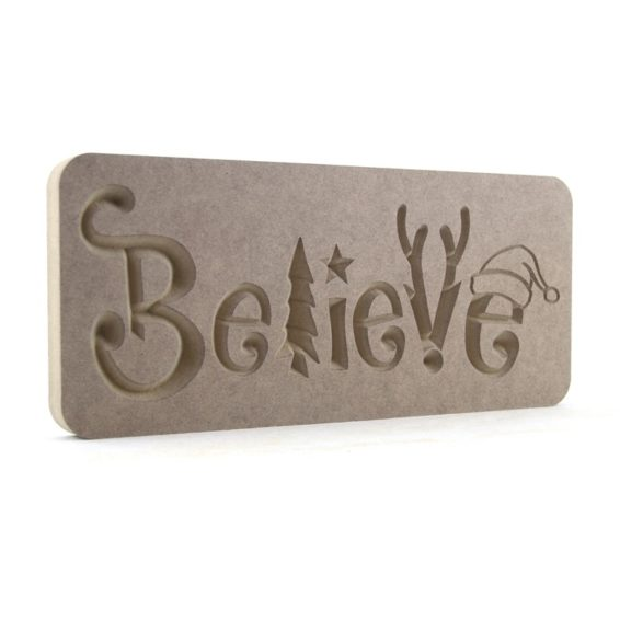 Christmas Themed Believe Plaque