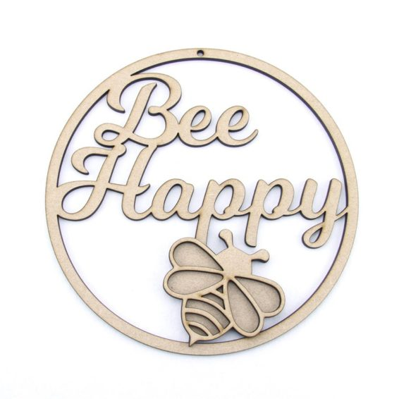 Bee Happy - Hoop