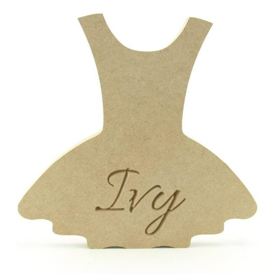 Dress Shape Engraved
