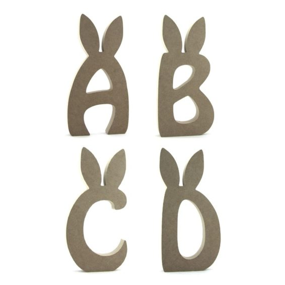 Easter Bunny Ears (Uppercase) Letters