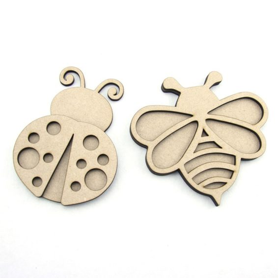 3D Bee or Ladybug (Large)  Laser Cut
