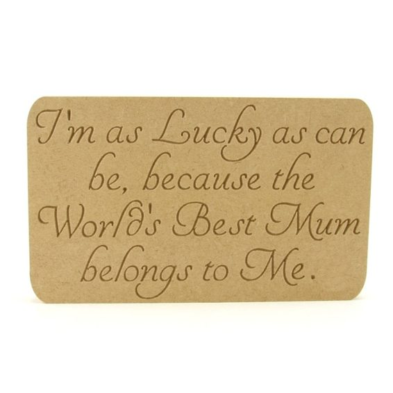 Plaque - I'm as Lucky