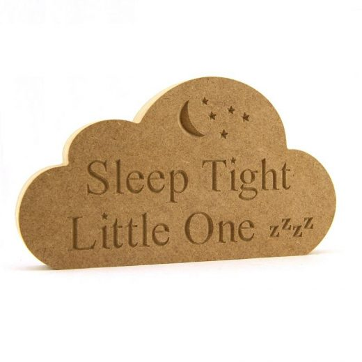 Cloud Engraved 'Sleep Tight Little one'