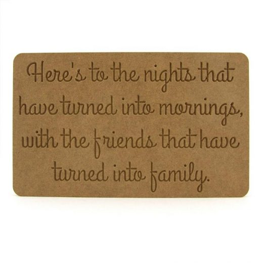 Friendship Plaque Here's to the nights..'