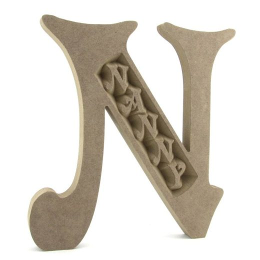 Special Engraved Letters N