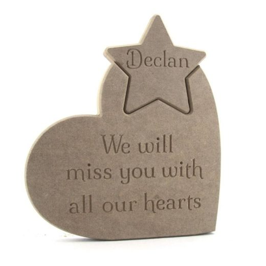 Heart & Personalised Star.'