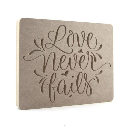 Love Never Fails Plaque (2 versions available)