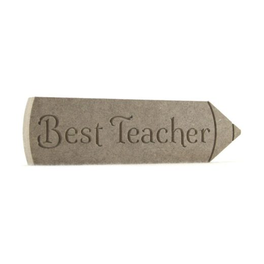 Pencil engraved - Best Teacher