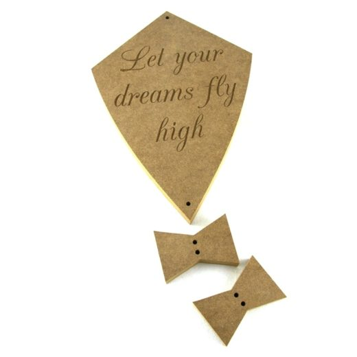 Kite 'Let your dreams fly high'.