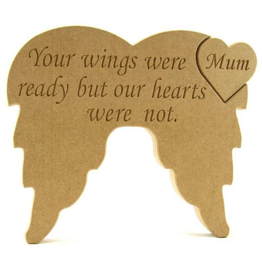 Angel Wings with Heart Insert