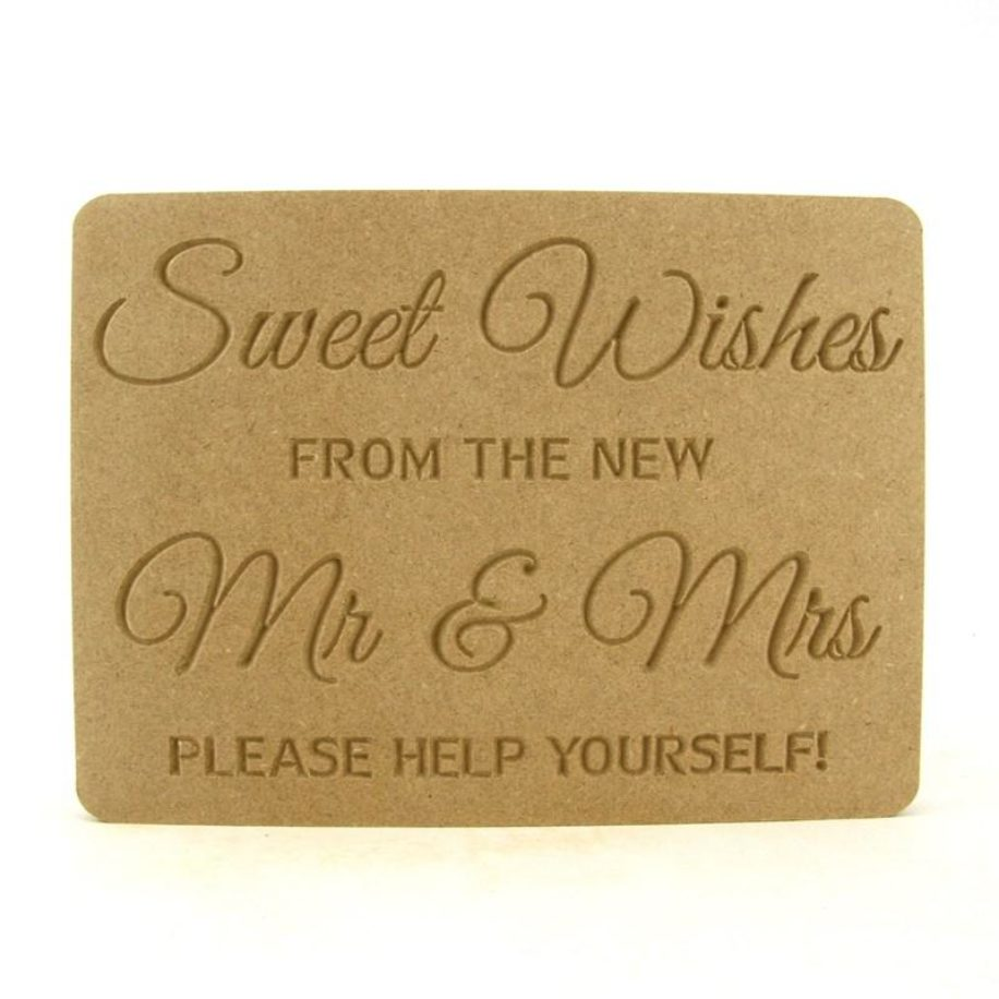 Sweet Wishes from the new Mr & Mrs Plaque