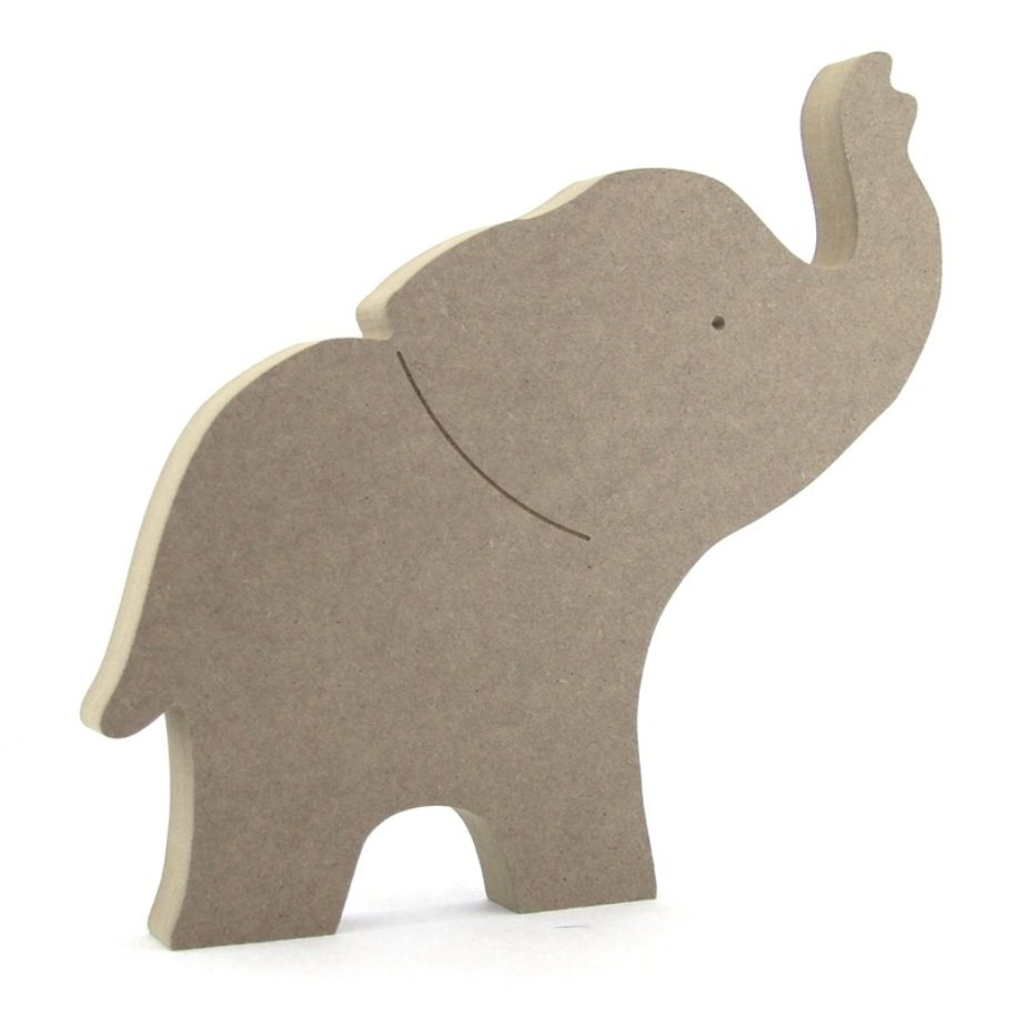 Trunk Up Elephant Makers Shed Custom Mdf Craft Shapes
