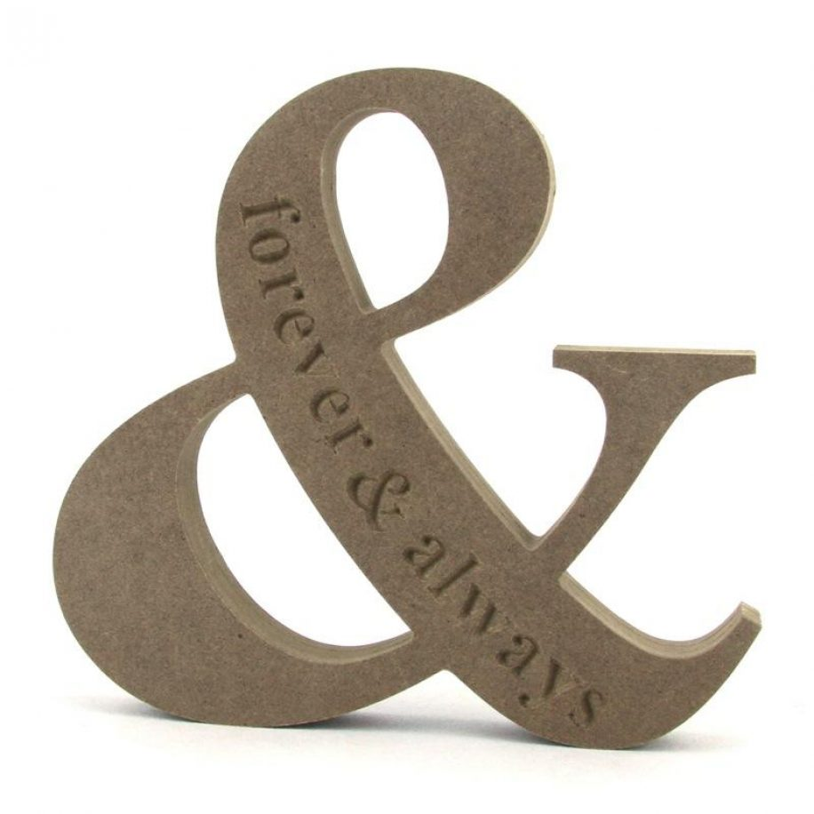 Ampersand 'forever & always'