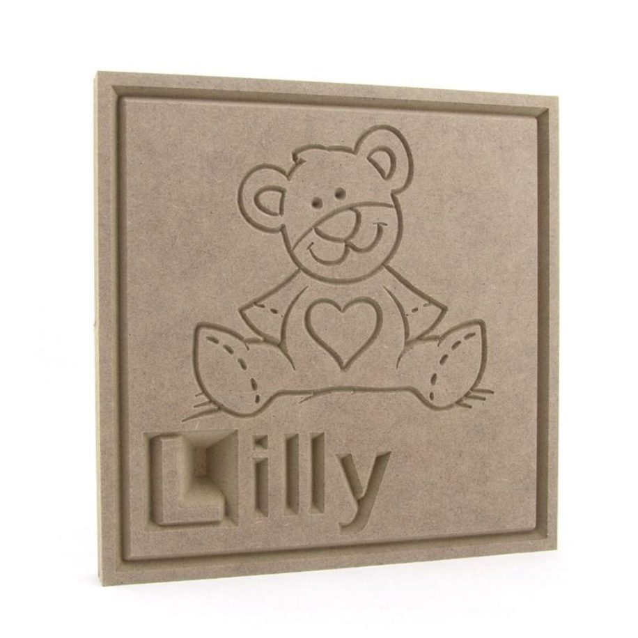 Teddy Bear Name Plaque