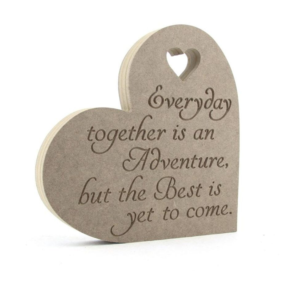 Heart Plaque  'Everyday Together is an Adventure..'