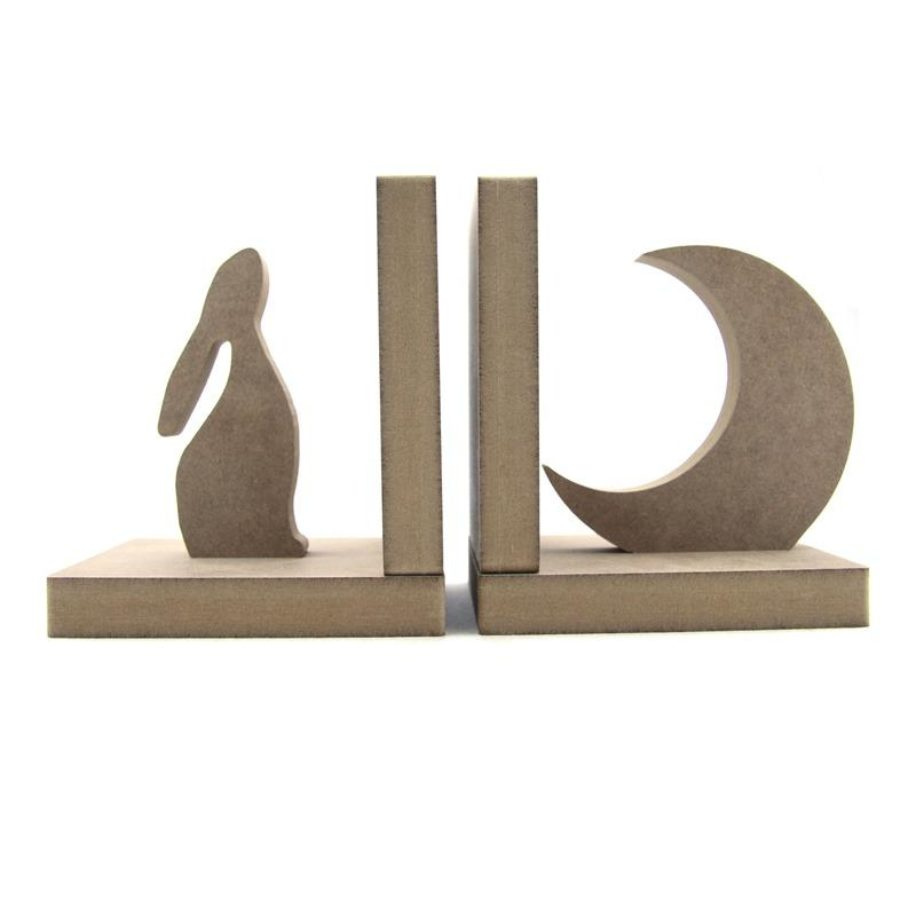 Hare & Moon Bookends