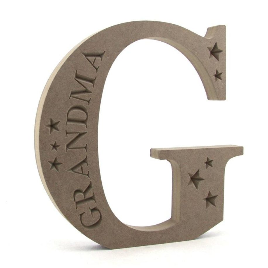 Personalised Letters with Engraved Stars.