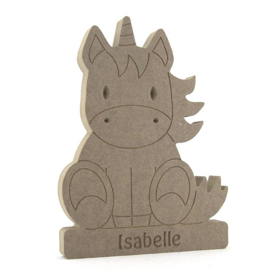 Sitting Unicorn on a Plinth (Available Personalised)