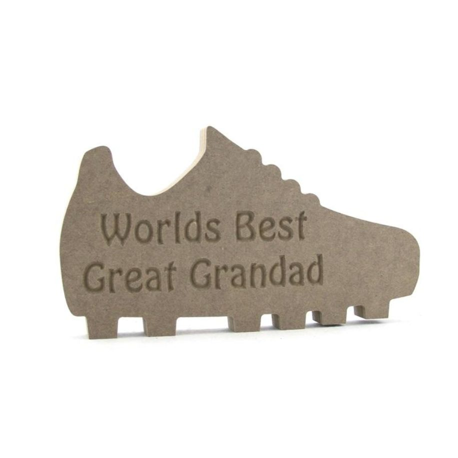Football Boot Engraved 'Worlds Best ........'
