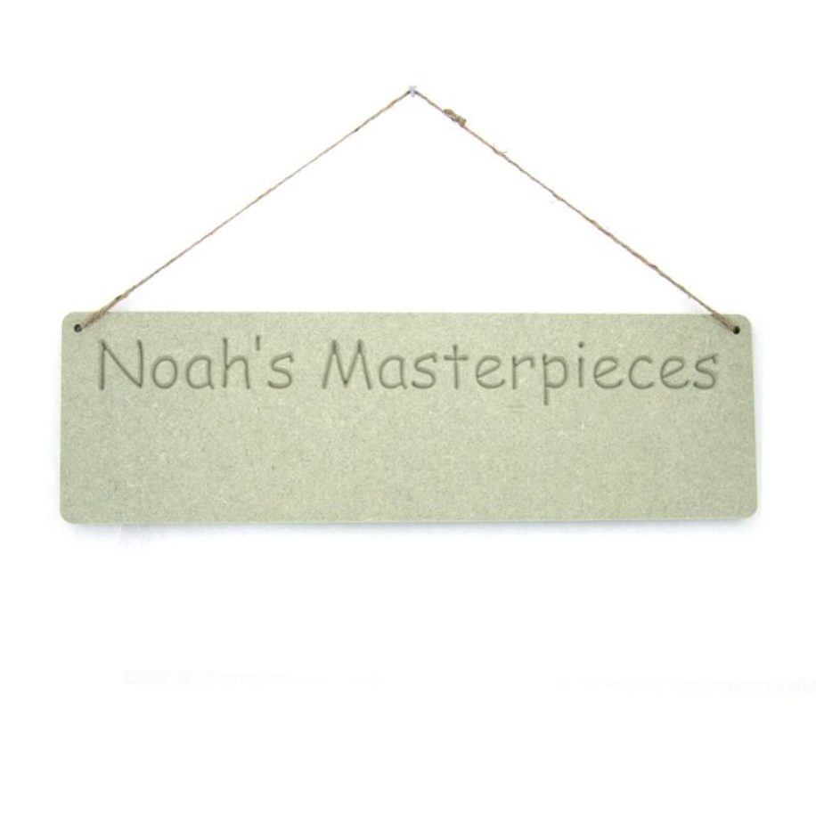 Personalised 'Masterpieces' Plaque.