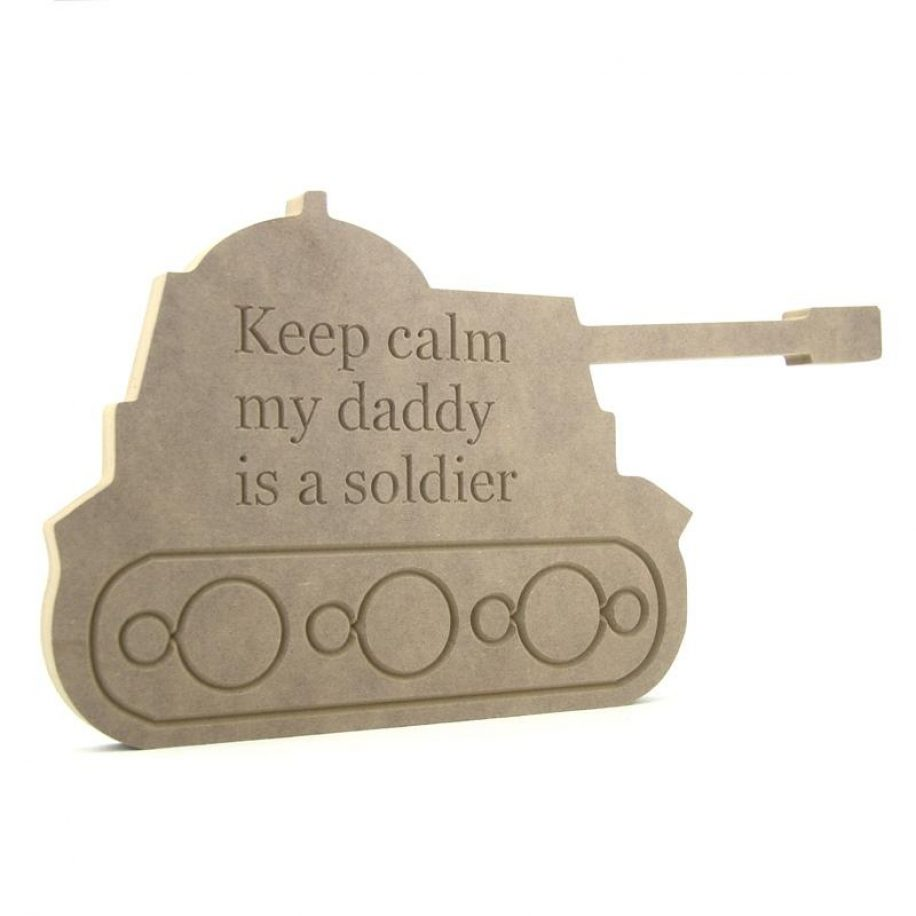 Engraved Tank - Keep Calm my daddy/mummy is a soldier
