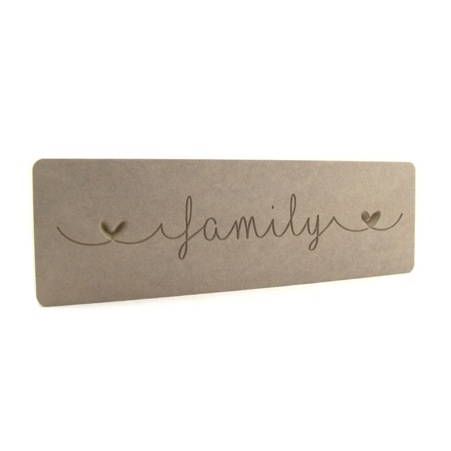 'Family' Engraved Word Block