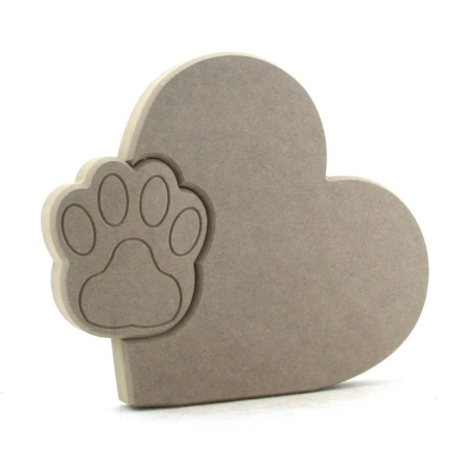 Heart with Interlocking Paw Print