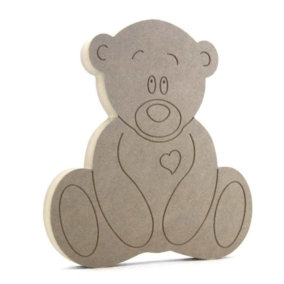 Sitting Teddy Bear 6mm 100mm high laser cut