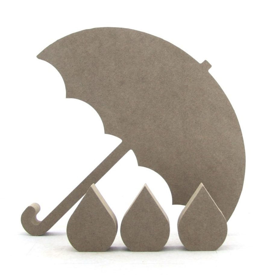 Umbrella & 3 Raindrops