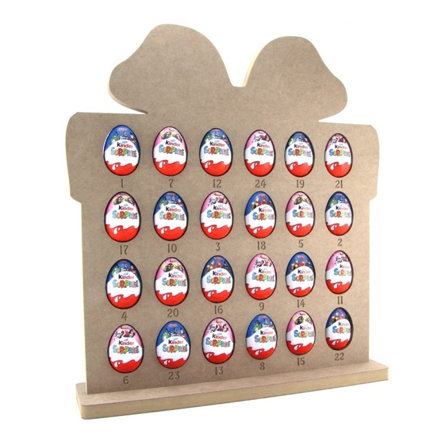 Kinder Egg Gift Shaped Advent Calendar