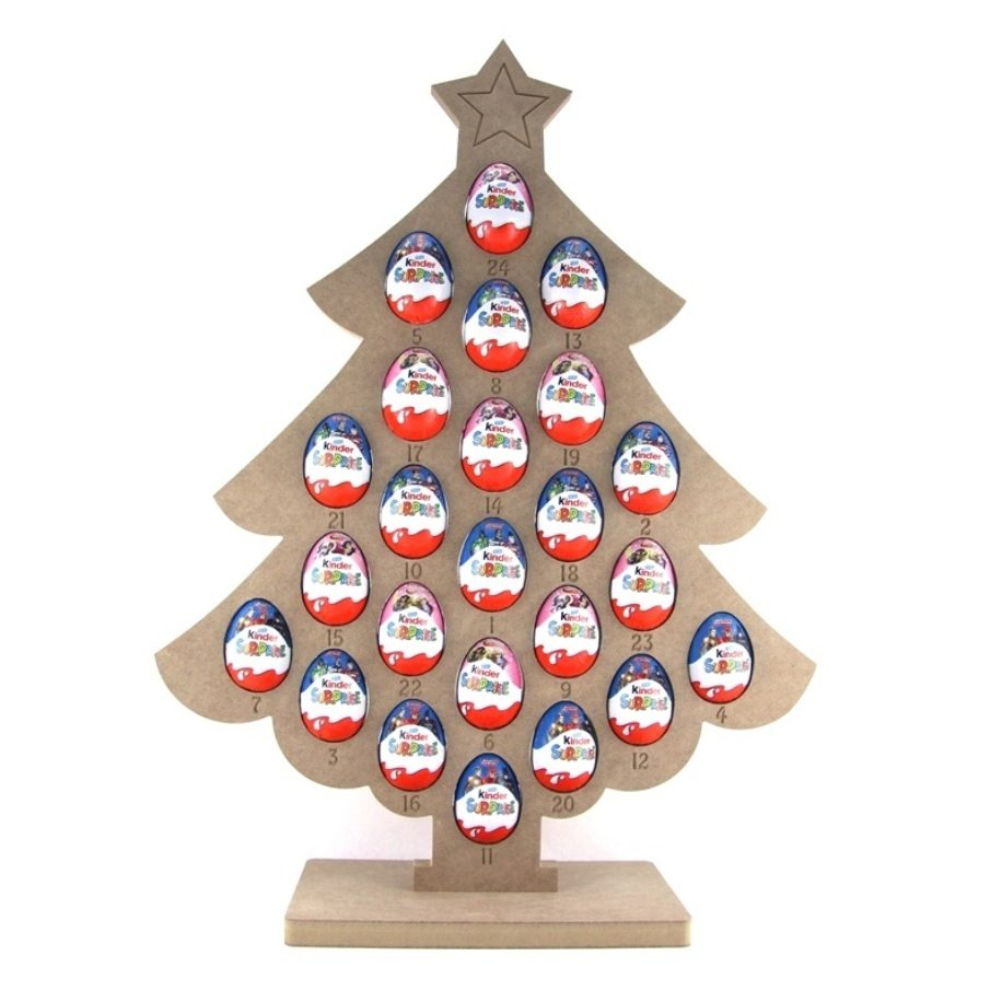 Kinder Egg Christmas Tree Advent Calendar