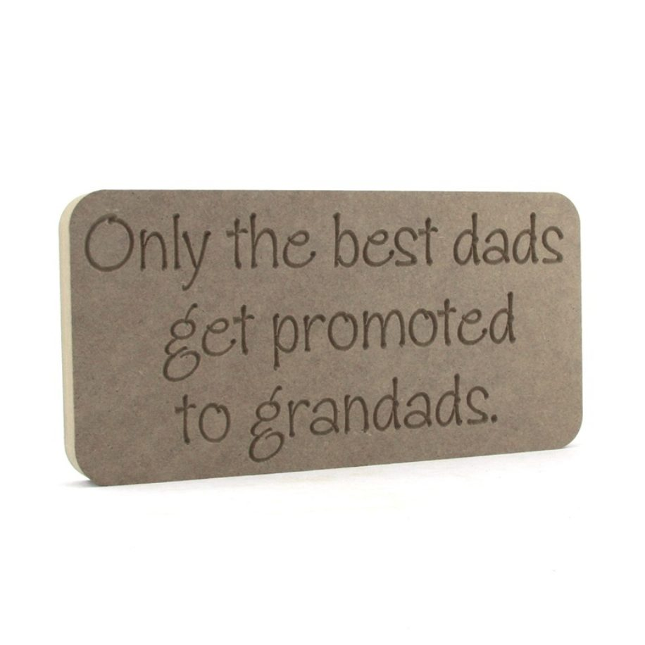 Dads to Grandads Plaque